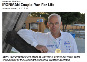 IRONMAN Couple Run For Life - IRONMAN News
